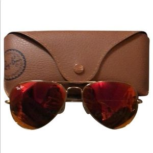 Brand new red ray bans !!